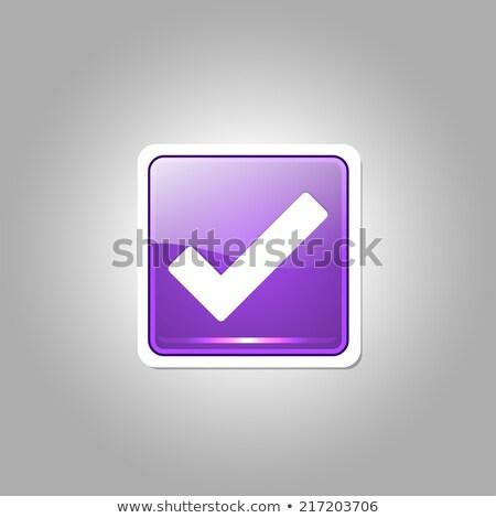 Tick Mark Vector Purple Web Icon Stock photo © rizwanali3d
