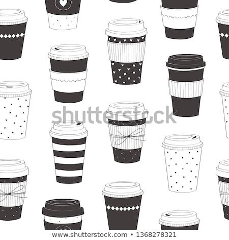 одноразовый чашку кофе пер вдохновение Сток-фото © devon