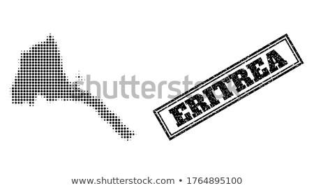 mapa · Eritrea · político · resumen · mundo - foto stock © istanbul2009