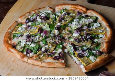 Vegan pizza festa legumes cozinhar evento Foto stock © godfer