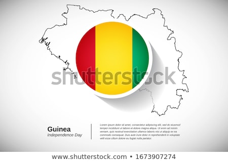 Map on flag button of Republic of Guinea Stock photo © Istanbul2009