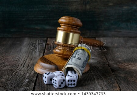Dice on money background.  concept of game      Stock photo © Valeriy