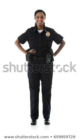 female police isolated on the white stock photo © elnur