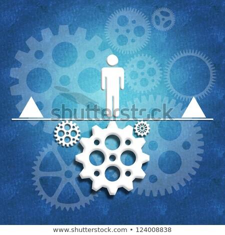 Human Rights on Blue Puzzle. Stock photo © tashatuvango