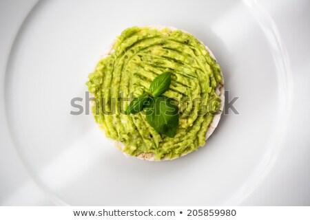 авокадо · зеленый · Ломтики · ресторан · еды · реклама - Сток-фото © lightpoet