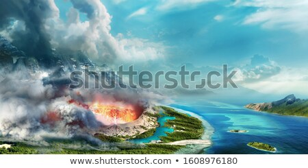 Vulcano volcano crater Stock photo © daboost
