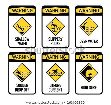 Danger Sign on the Beach Stock photo © dirkr