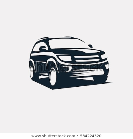 4x4 voertuig auto silhouetten schemering tijd Stockfoto © hin255