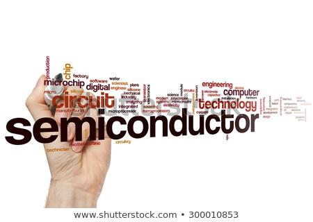 Nuvem da palavra digital eletrônico lasca engenharia membro Foto stock © tang90246