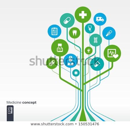 Line Circle Health Care Medical Icons Set Stock photo © Anna_leni