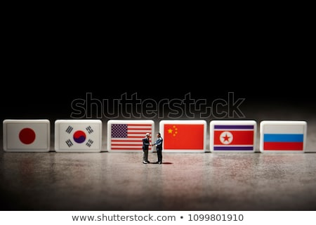 China and North Korea - Miniature Flags. Stock photo © tashatuvango
