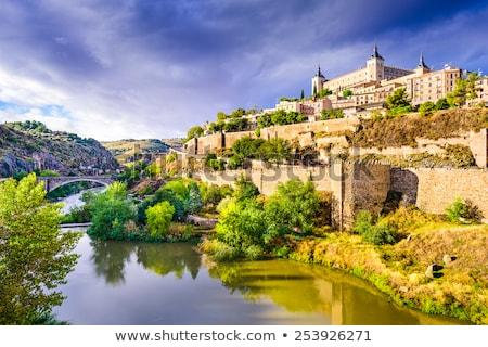 zmierzch · Hiszpania · Cityscape · Madryt · domu · ściany - zdjęcia stock © vichie81