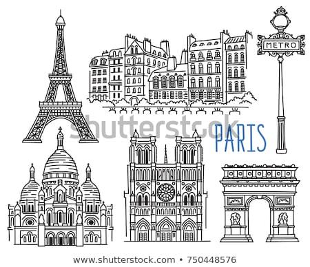 metra · metra · stacja · podpisania · Paryż · Francja - zdjęcia stock © andreykr