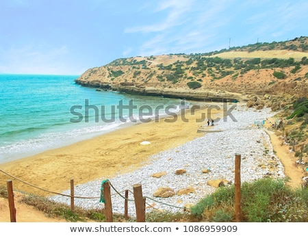 strand · Marokko · oceaan · landschap · panorama · water - stockfoto © tony4urban