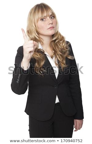Stern woman gesturing with her hand Stock photo © wavebreak_media