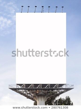 Outdoor billboard bewolkt hemel reclame witte Stockfoto © stevanovicigor