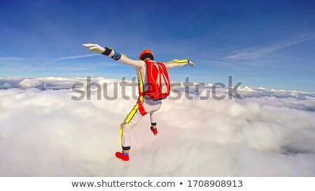 Előad leszármazás füst nyom sport minta Stock fotó © EcoPic