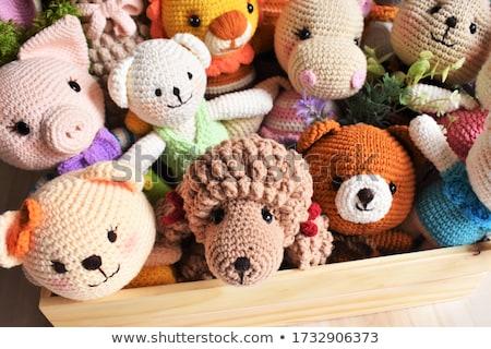 вязанье группа шерсти материальных шаблон иглы Сток-фото © fuzzbones0