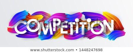 Konkurencyjny słowo mężczyzna strony działalności biały Zdjęcia stock © fuzzbones0