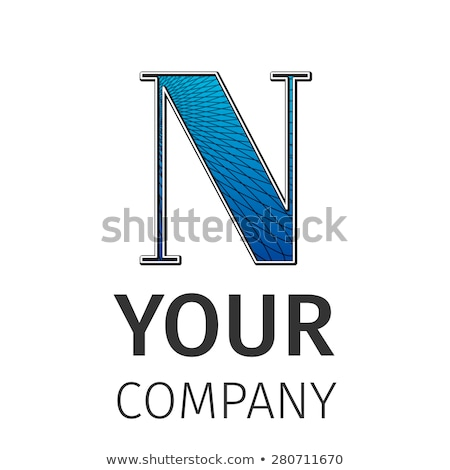 Abstract guilloche Logo, letter-N Stock photo © netkov1