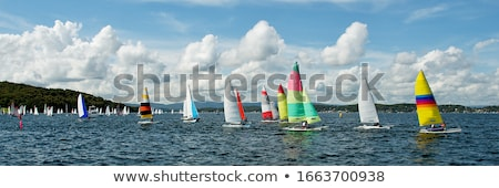 Sailboat in lake Stock photo © ivonnewierink