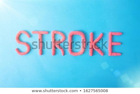 Sértés diagnózis orvosi nyomtatott elmosódott szöveg Stock fotó © tashatuvango