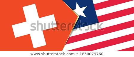 Швейцария Либерия флагами головоломки изолированный белый Сток-фото © Istanbul2009