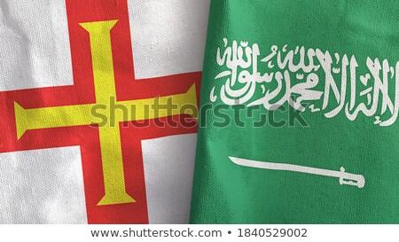 Suudi Arabistan bayraklar bilmece yalıtılmış beyaz iş Stok fotoğraf © Istanbul2009