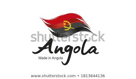 Angola land vlag kaart vorm tekst Stockfoto © tony4urban