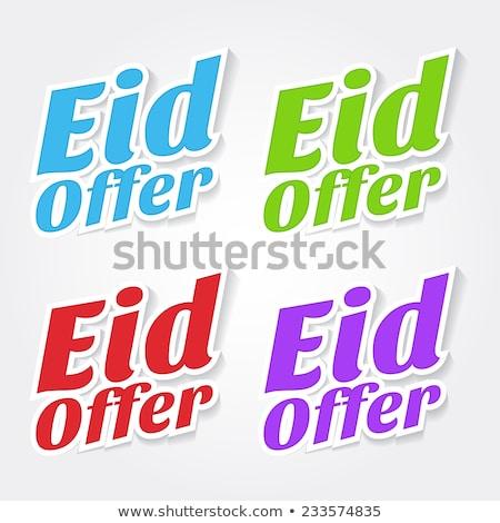 Eid Offer Red Vector Icon Design Stock photo © rizwanali3d