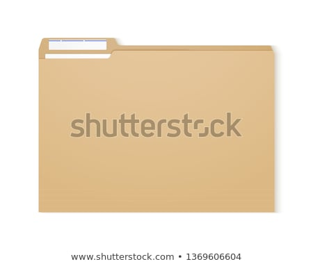 Ordner Label Rechnungslegung Schreibtisch Finanzierung zurück Stock foto © Zerbor