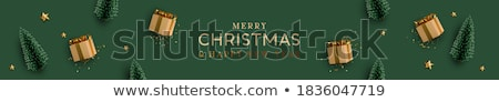 Gouden vak sterren confetti christmas Open Stockfoto © -Baks-