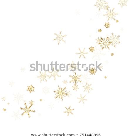 kış · kar · taneleri · sanat · mutlu · dizayn - stok fotoğraf © rommeo79