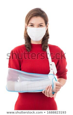woman with broken arm stock photo © rastudio