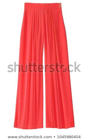 Vrouw Rood pants geïsoleerd witte model Stockfoto © Elnur