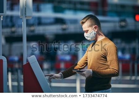 Lotniska usług kawy kluczowych płaszczyzny Zdjęcia stock © Winner