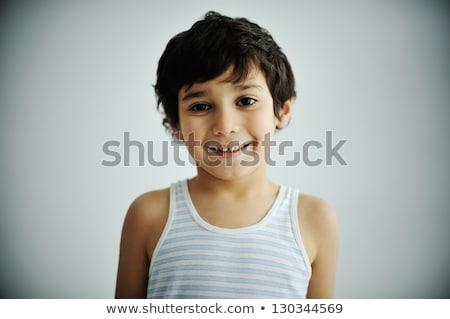 Artístico retrato real nino nino pelo Foto stock © zurijeta