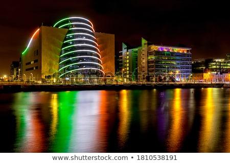 Dublin · éjszaka · lenyűgöző · híd · folyó · vám - stock fotó © mady70