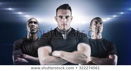 Difícil rugby jogador olhando câmera branco Foto stock © wavebreak_media