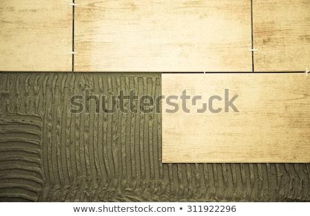 Сток-фото: керамической · плитки · инструменты · белый · работу