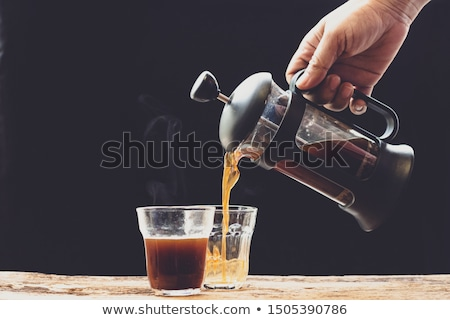 frans · druk · koffiekopje · plek · illustratie - stockfoto © iconify