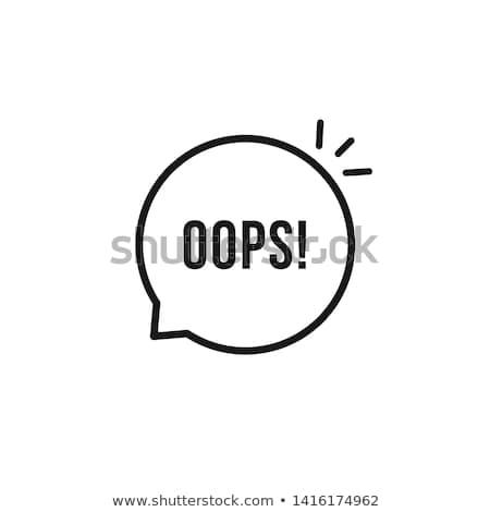 Oops ilustração branco fundo gráfico cartas Foto stock © get4net
