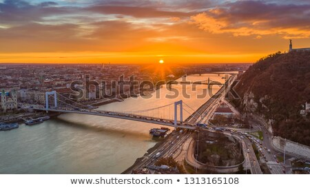 Cityscape of Budapest with Elisabeth Bridge over Danube River stock photo © Kayco