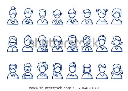 doodle people icon stock photo © pakete