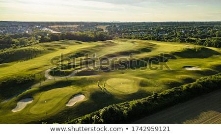 Elképesztő kilátás golfpálya völgy naplemente golf Stock fotó © CaptureLight