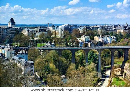 Híd Luxemburg kilátás völgy western Európa Stock fotó © amok