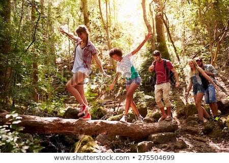 A person enjoying an outdoor activity Stock photo © bluering