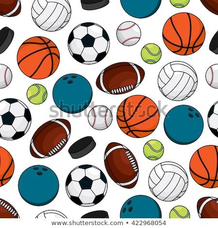 Sem costura futebol vetor bola padrão branco Foto stock © adrian_n