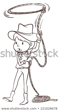 A plain sketch of a cowgirl Stock photo © bluering