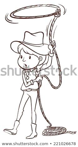 cowboy · człowiek · projektu · mężczyzna · zwrócić · zachodniej - zdjęcia stock © bluering